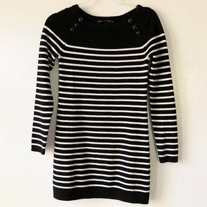 White House Black Market Striped Sweater Dress XS